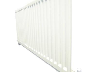 Vandet i radiatoren opvarmes af en varmepumpe